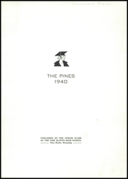Page 3, 1940 Edition, Pine Bluffs High School - Pines Yearbook (Pine Bluffs, WY) online yearbook collection