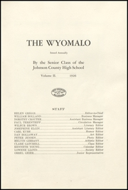 Page 9, 1926 Edition, Johnson County High School - Wyomalo Yearbook (Buffalo, WY) online yearbook collection