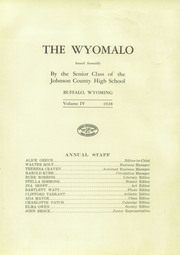Page 7, 1928 Edition, Johnson County High School - Wyomalo Yearbook (Buffalo, WY) online yearbook collection