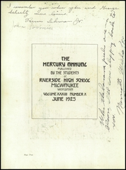 Page 6, 1925 Edition, Riverside High School - Mercury Yearbook (Milwaukee, WI) online yearbook collection