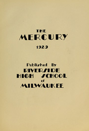 Page 7, 1929 Edition, Riverside High School - Mercury Yearbook (Milwaukee, WI) online yearbook collection