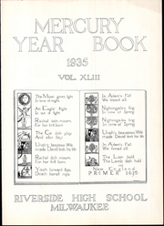 Page 9, 1935 Edition, Riverside High School - Mercury Yearbook (Milwaukee, WI) online yearbook collection