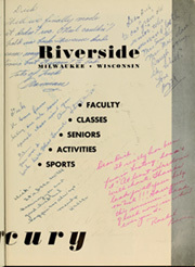 Page 7, 1950 Edition, Riverside High School - Mercury Yearbook (Milwaukee, WI) online yearbook collection