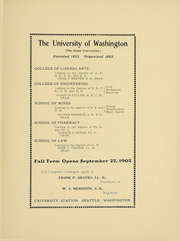 Page 12, 1903 Edition, University of Washington - Tyee Yearbook (Seattle, WA) online yearbook collection