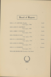 Page 14, 1909 Edition, University of Washington - Tyee Yearbook (Seattle, WA) online yearbook collection