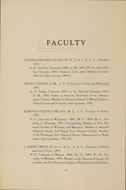 Page 16, 1909 Edition, University of Washington - Tyee Yearbook (Seattle, WA) online yearbook collection