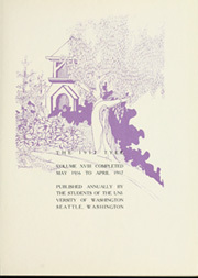 Page 9, 1917 Edition, University of Washington - Tyee Yearbook (Seattle, WA) online yearbook collection