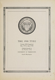 Page 7, 1918 Edition, University of Washington - Tyee Yearbook (Seattle, WA) online yearbook collection