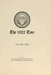 Page 7, 1922 Edition, University of Washington - Tyee Yearbook (Seattle, WA) online yearbook collection
