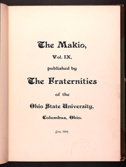 Page 13, 1889 Edition, Ohio State University - Makio Yearbook (Columbus, OH) online yearbook collection
