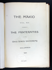 Page 11, 1892 Edition, Ohio State University - Makio Yearbook (Columbus, OH) online yearbook collection