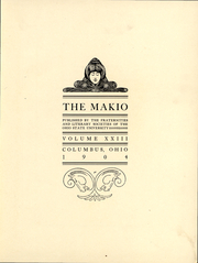 Page 4, 1904 Edition, Ohio State University - Makio Yearbook (Columbus, OH) online yearbook collection