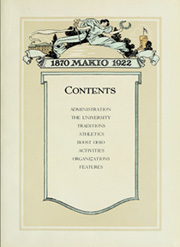 Page 11, 1922 Edition, Ohio State University - Makio Yearbook (Columbus, OH) online yearbook collection