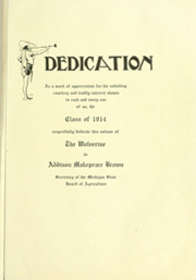 Page 13, 1913 Edition, Michigan State University - Red Cedar Log Yearbook (East Lansing, MI) online yearbook collection