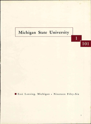 Page 7, 1956 Edition, Michigan State University - Red Cedar Log Yearbook (East Lansing, MI) online yearbook collection