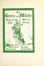 Page 7, 1926 Edition, Inglewood High School - Green and White Yearbook (Inglewood, CA) online yearbook collection
