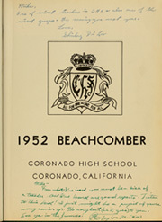 Page 7, 1952 Edition, Coronado High School - Beachcomber Yearbook (Coronado, CA) online yearbook collection