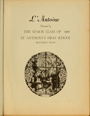 Page 5, 1952 Edition, St Anthonys High School - L Antoine Yearbook (Beaumont, TX) online yearbook collection