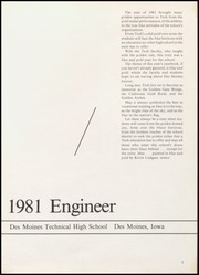 Page 5, 1981 Edition, Des Moines Technical High School - Engineer Yearbook (Des Moines, IA) online yearbook collection