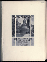 Page 5, 1908 Edition, University of Michigan - Michiganensian Yearbook (Ann Arbor, MI) online yearbook collection
