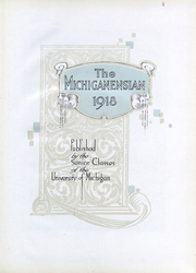Page 5, 1918 Edition, University of Michigan - Michiganensian Yearbook (Ann Arbor, MI) online yearbook collection