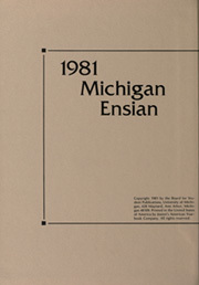 Page 2, 1981 Edition, University of Michigan - Michiganensian Yearbook (Ann Arbor, MI) online yearbook collection