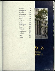 Page 3, 1998 Edition, University of Michigan - Michiganensian Yearbook (Ann Arbor, MI) online yearbook collection