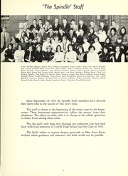 Page 9, 1965 Edition, Lowell High School - Spindle Yearbook (Lowell, MA) online yearbook collection