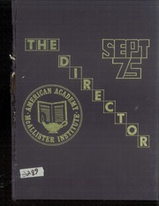 1975 Edition, American Academy McAllister Institute - Director Yearbook (New York, NY)