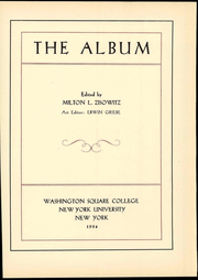 Page 9, 1934 Edition, NYU Washington Square College - Album Yearbook (New York, NY) online yearbook collection