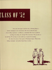 Page 8, 1952 Edition, NYU Washington Square College - Album Yearbook (New York, NY) online yearbook collection