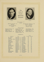 Page 261, 1927 Edition, Columbia University - Columbian Yearbook (New York, NY) online yearbook collection