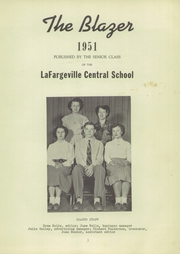 Page 7, 1951 Edition, Lafargeville High School - Blazer Yearbook (Lafargeville, NY) online yearbook collection