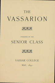 Page 13, 1891 Edition, Vassar College - Vassarion Yearbook (Poughkeepsie, NY) online yearbook collection