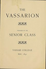 Page 4, 1891 Edition, Vassar College - Vassarion Yearbook (Poughkeepsie, NY) online yearbook collection