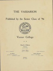 Page 4, 1896 Edition, Vassar College - Vassarion Yearbook (Poughkeepsie, NY) online yearbook collection