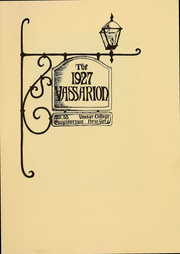 Page 3, 1927 Edition, Vassar College - Vassarion Yearbook (Poughkeepsie, NY) online yearbook collection