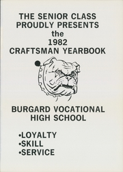 Page 5, 1982 Edition, Burgard Vocational High School - Craftsman Yearbook (Buffalo, NY) online yearbook collection