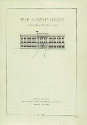 Page 3, 1932 Edition, Lowville Academy and Central School - Lowacadian Yearbook (Lowville, NY) online yearbook collection