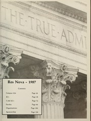 Page 5, 1987 Edition, Benjamin N Cardozo School of Law - Res Nova Yearbook (New York, NY) online yearbook collection