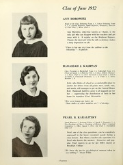 Page 16, 1952 Edition, Yeshiva University High School For Girls - Elchanette Yearbook (Brooklyn, NY) online yearbook collection