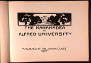 Page 5, 1907 Edition, Alfred University - Kanakadea Yearbook (Alfred, NY) online yearbook collection