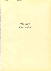 Page 7, 1929 Edition, Alfred University - Kanakadea Yearbook (Alfred, NY) online yearbook collection