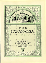Page 9, 1929 Edition, Alfred University - Kanakadea Yearbook (Alfred, NY) online yearbook collection