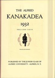 Page 11, 1932 Edition, Alfred University - Kanakadea Yearbook (Alfred, NY) online yearbook collection