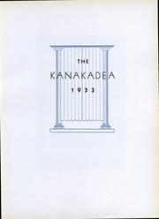 Page 5, 1933 Edition, Alfred University - Kanakadea Yearbook (Alfred, NY) online yearbook collection