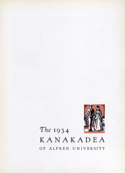 Page 5, 1934 Edition, Alfred University - Kanakadea Yearbook (Alfred, NY) online yearbook collection