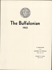 Page 7, 1952 Edition, University at Buffalo - Buffalonian Yearbook (Buffalo, NY) online yearbook collection