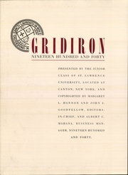 Page 4, 1940 Edition, St Lawrence University - Gridiron Yearbook (Canton, NY) online yearbook collection