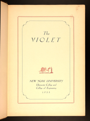 Page 7, 1933 Edition, New York University - Violet Yearbook (New York, NY) online yearbook collection